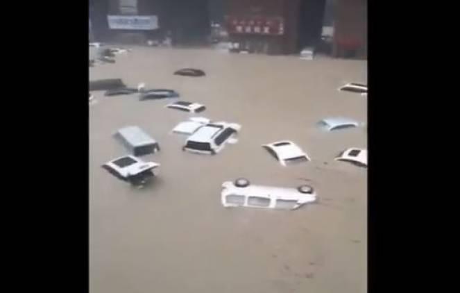 Devastante alluvione nel Nord della Cina