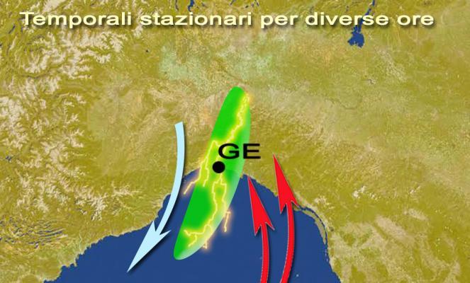 Dinamica di innesco temporalesco dell'evento alluvionale