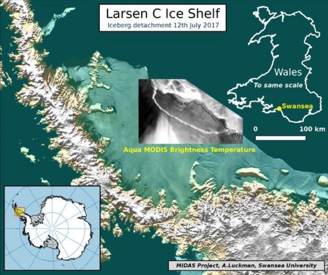 Distacco dell'iceberg (fonte PROJECT MIDAS)