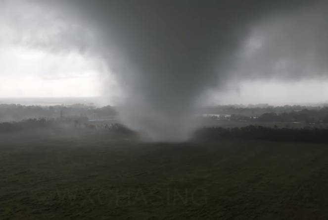 Drone meteo insegue tornado in Texas