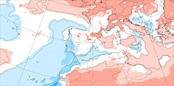ECMWF, anomalie termiche di fine luglio