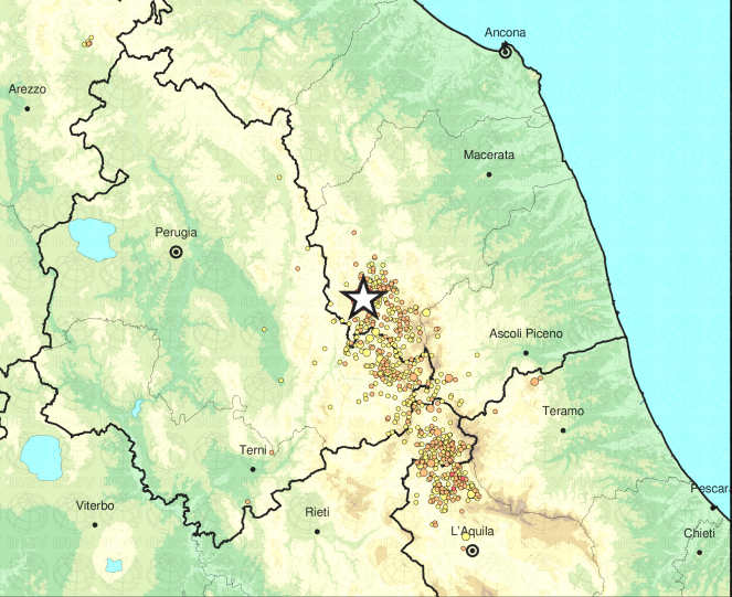 Terremoto, nuove scosse tra Marche e Umbria: magnitudo 4.4