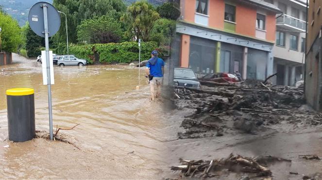 Esondazioni in Valsassina: fonte lecconews