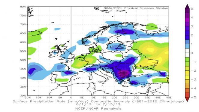 estate 2019: analisi precipitazioni della prima parte