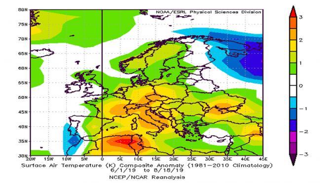 estate 2019: temperature ampiamente sopra media in Italia