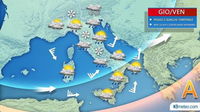 Dove nevica la prossima settimana | Previsioni Meteo 21-28 gennaio 2019