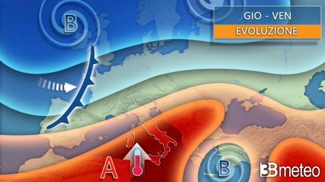 Evoluzione meteo giovedì/venerdì