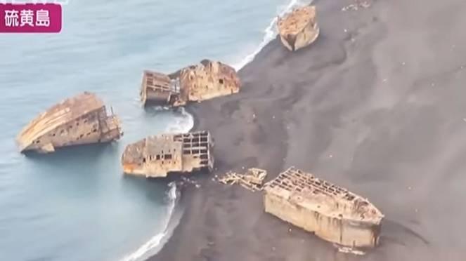 GIAPPONE: l eruzione del VULCANO sottomarino riporta in superficie i relitti della II° guerra mondiale. Video