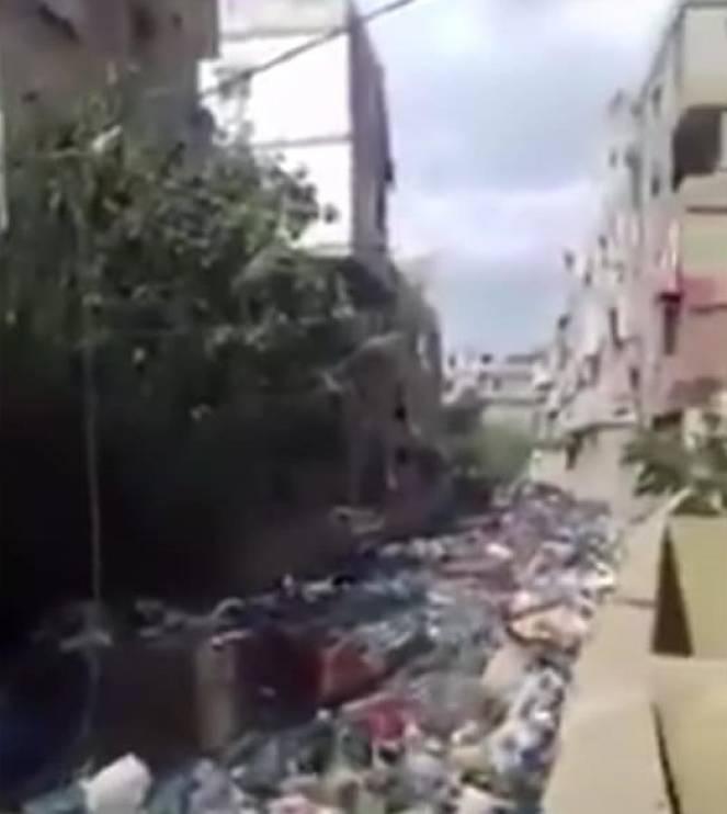 Fiumi di spazzatura a Beirut trasportati dai corsi d'acqua in piena