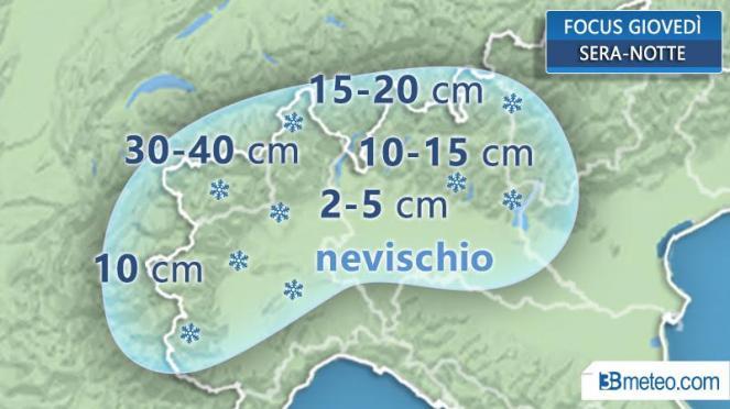 Focus neve al Nordovest