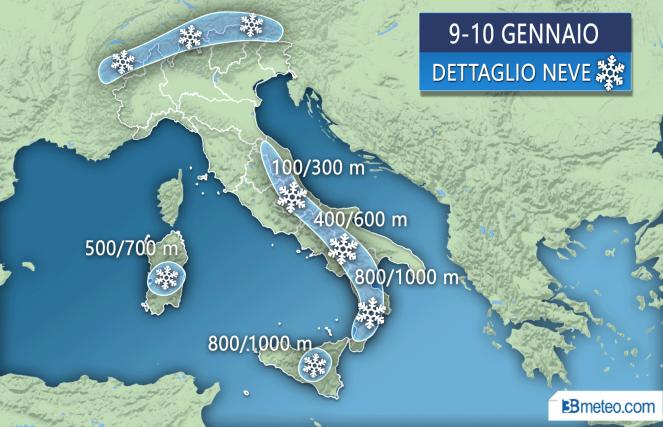 Previsioni meteo, ritornano pioggia e neve - Meteo Roma