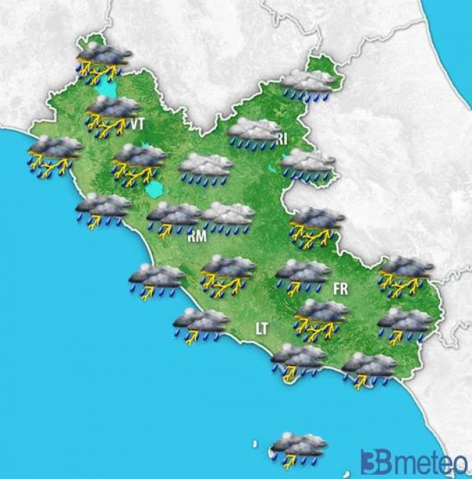 Forte maltempo in arrivo su Roma e Lazio, allerta meteo per giovedì mattina