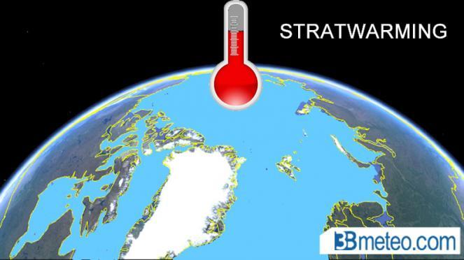 forte riscaldamento della stratosfera