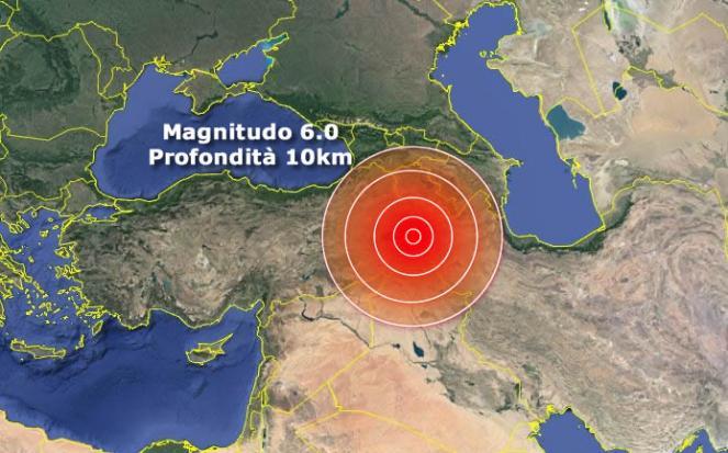 Forte terremoto tra Turchia e Iran, almeno 9 vittime