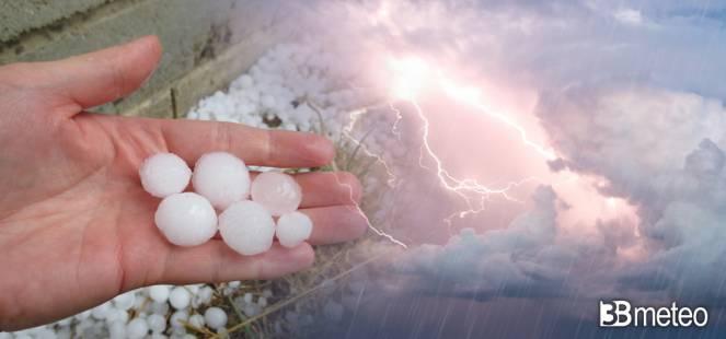 Forti temporali e grandine su alcune zone
