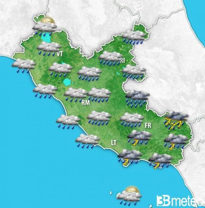 Forti temporali nottetempo sul basso Lazio; attenzione anche ai sostenuti vendi di Scirocco.