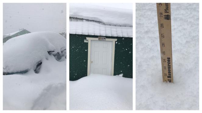 Bufera di neve fuori stagione in Usa