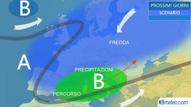 freddo in Europa, Mediterraneo attraversato da ondate di maltempo