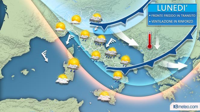 Le previsioni meteo della settimana