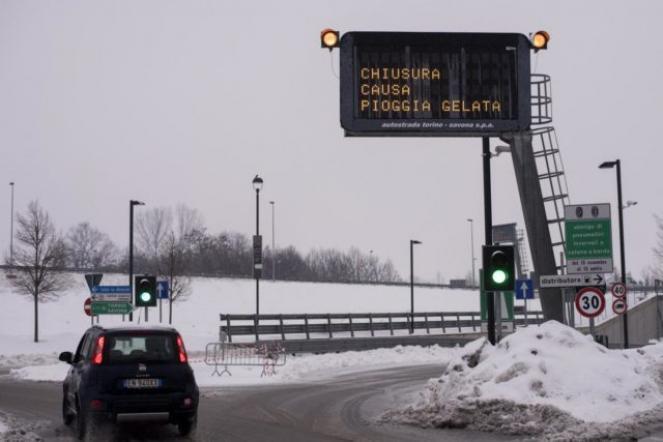 Gelicidio sulle autostrade