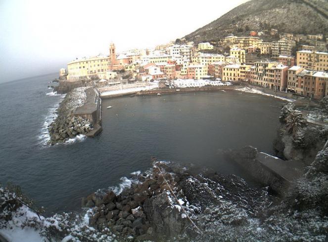 Genova Nervi imbiancata