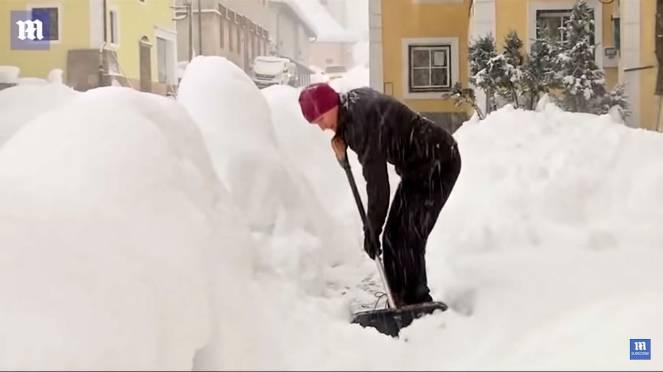 Germania sepolta dalla neve