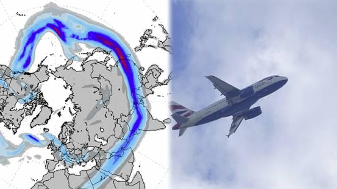 gli aerei possono sfruttare la corrente a getto in volo