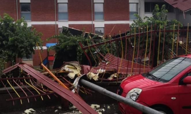 Gli effetti del maltempo a Gozzano, nel Novarese (foto Meteo Piemonte)