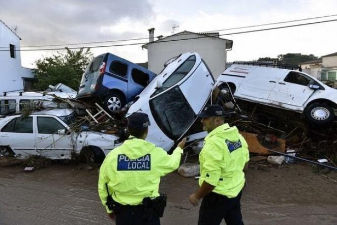 Gli effetti della devastante alluvione a Maiorca