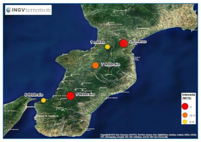 I 5 fortissimi terremoti della Calabria del 1783