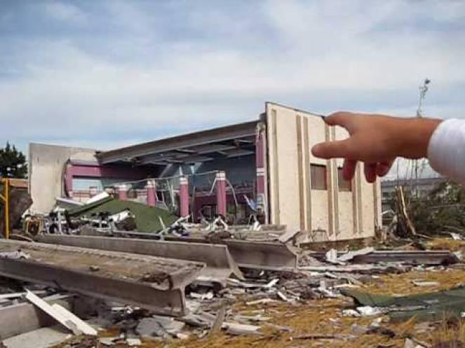 I danni del tornado di 11 anni fa