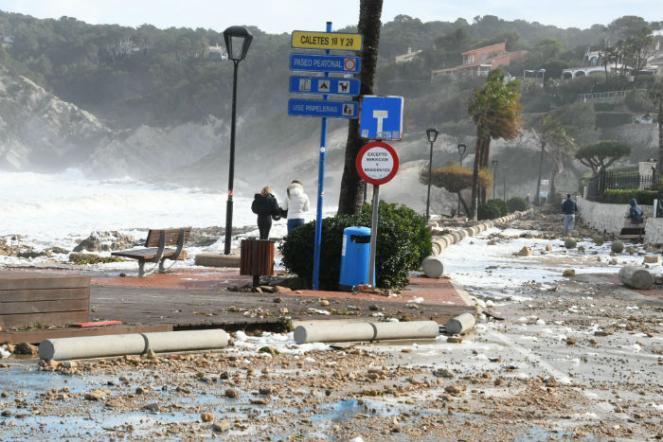 I danni della mareggiata a Xabia. (Foto di: Ajuntament de Xábia / Facebook)