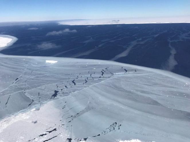 Iceberg immortalato dai tecnici della NASA