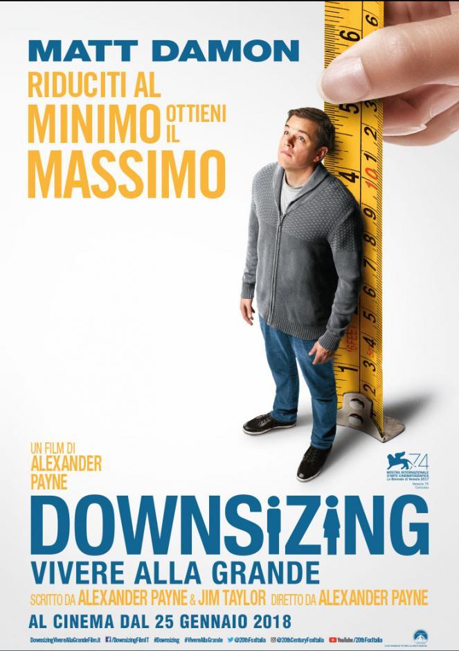Il 25 gennaio esce nelle sale Downsizing - Vivere alla grande