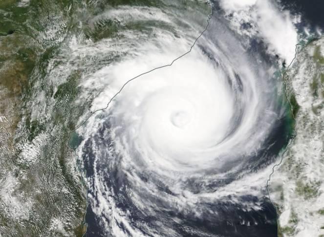 Il ciclone Idai visto dal sat nel visibile