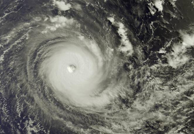 Il ciclone tropicale Habana vista dal satellite
