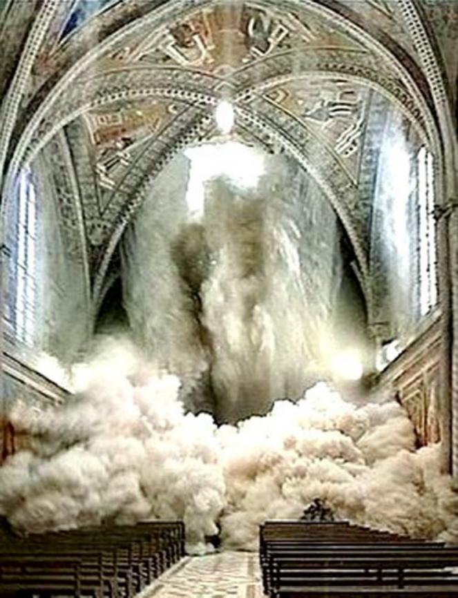 Il crollo della volta della Basilica di San Francesco