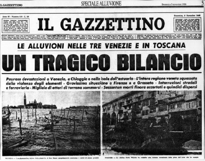 Il Gazzettino giorno 4 Novembre 1966