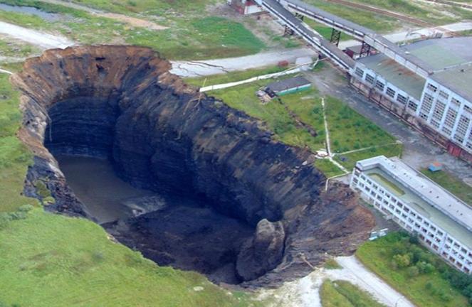 Il gigantesco sink hole apertosi del 2007