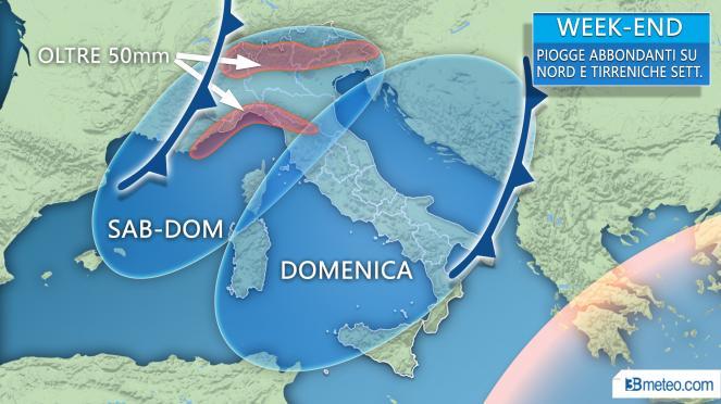 Il MALTEMPO colpirà soprattutto il Nord e le Tirreniche settentrionali