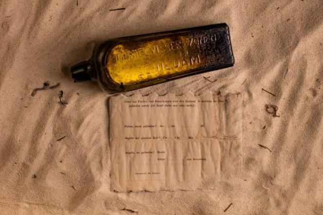 Trovata lettera in bottiglia, è del 1886