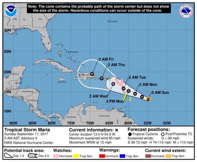 Uragano Maria, nuova minaccia nell'Atlantico: categoria 3