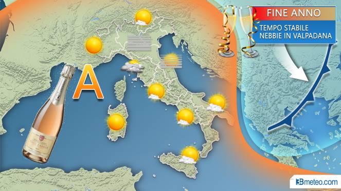 Le previsioni meteo al Sud per Capodanno