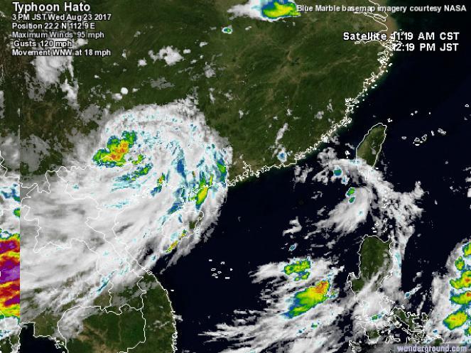 Vento fino a 192km/h, allerta di livello massimo: tremendo tifone in avvicinamento