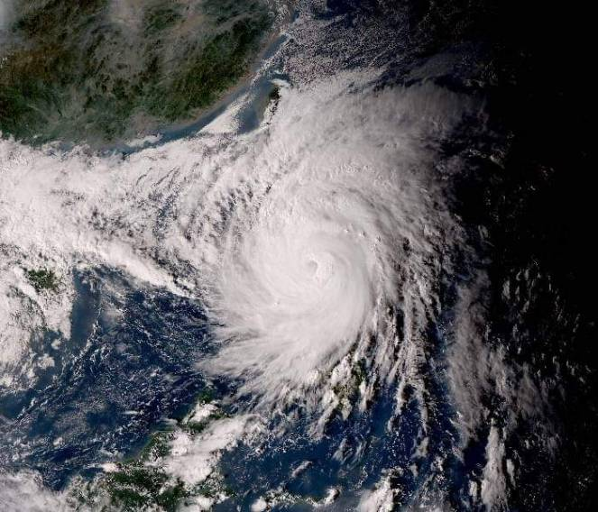 Il tifone Vamco visto dal satellite