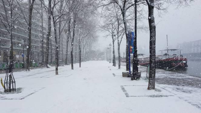 Il ungo Senna durante la nevicata