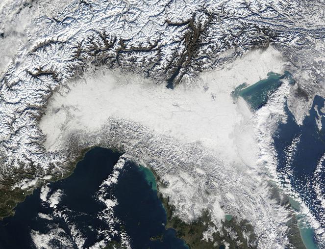 Immagine satellitare del 20 dicembre 2009 - Fonte: MODIS-NASA