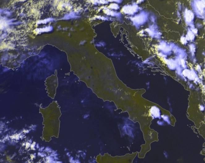 Immagine satellite del pomeriggio