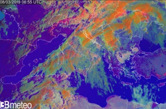 Immagine satellite ore 6,55UTC