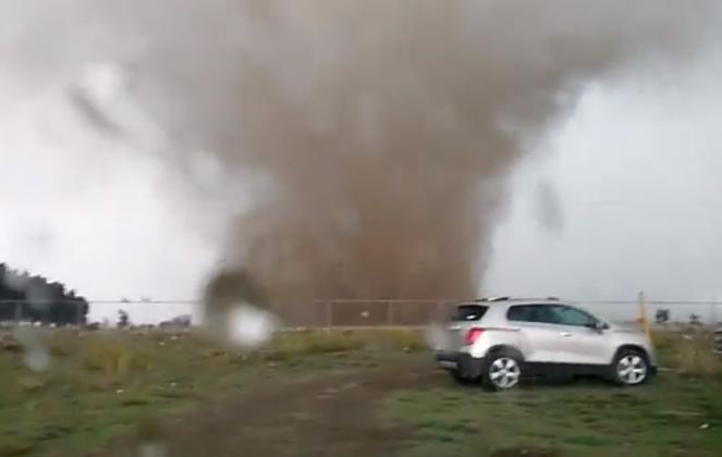 Improvviso Tornado in Messico a Huejotzingo